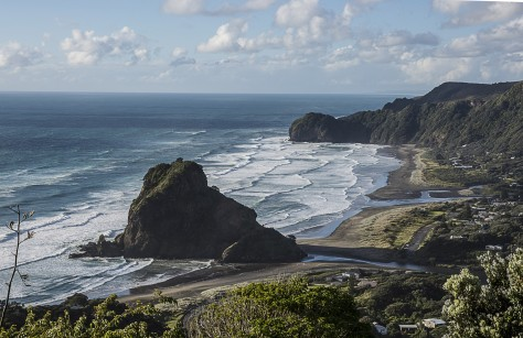Piha from the hill